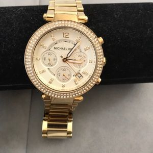 Authentic Michael Kors used stainless steel watch